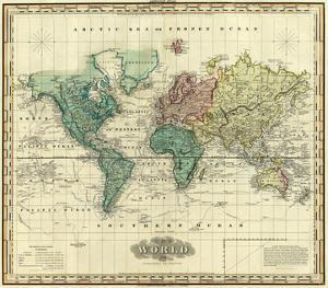 World on Mercators Projection, c.1823 by Henry S. Tanner