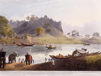 Ruins of the Port at Juanpore on the River Goomtee, 1824 (Colour Aquatint)