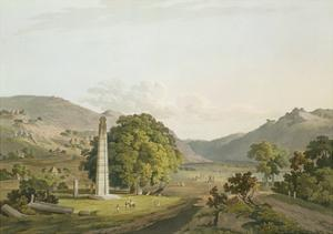 The Obelisk at Axum, Engraved by Daniel Havell (1785-1826) 1809 by Henry Salt