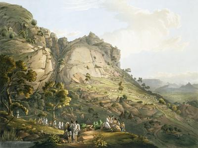The Town of Abha in Abyssinia, engraved by J. Bluck