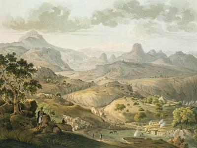 View Near the Village of Asceriah, in Abyssinia, Engraved by Daniel Havell (1785-1826) 1809