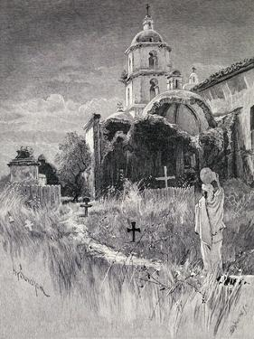 Graveyard and Mission, San Luis Rey De Francia, California, from 'The Century Illustrated Monthly… by Henry Sandham