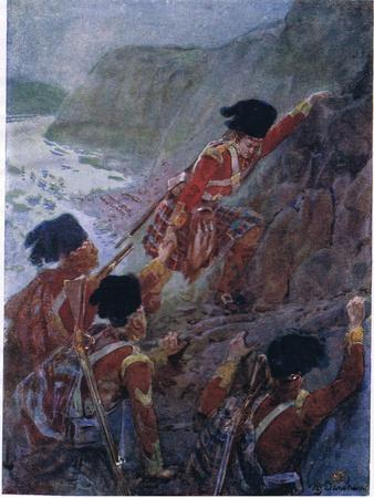 Wolfe's Army Scaling the Cliffs at Quebec 1759, C.1920