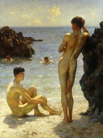 Lovers of the Sun, 1923 by Henry Scott Tuke