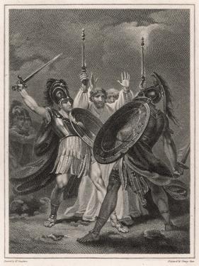 Ajax Fights Hector by Henry Singleton