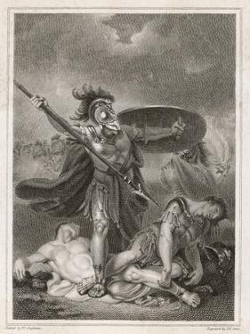 Patroclus Dons Achilles' Armour and Goes into Battle, Only to be Slain by Hector by Henry Singleton