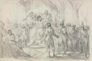 Stephen Brought Prisoner to Empress Mathilda by Henry Singleton