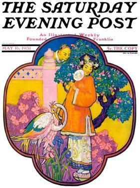 """""""Chinese Garden,"""" Saturday Evening Post Cover, May 16, 1931 by Henry Soulen"""