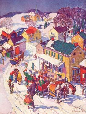 """Christmas in Town,""December 1, 1940 by Henry Soulen"