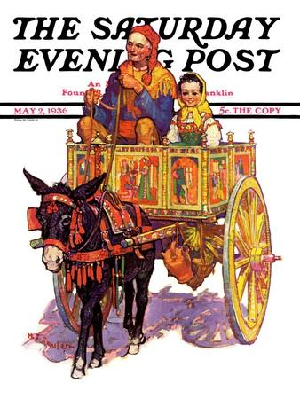 """Gypsy Wagon,"" Saturday Evening Post Cover, May 2, 1936"