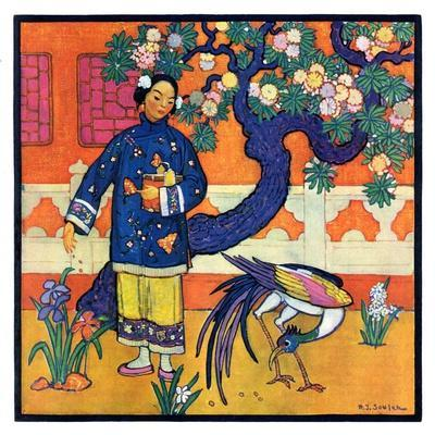 """Japanese Woman in Garden,""March 2, 1929"