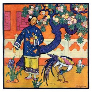 """""""Japanese Woman in Garden,""""March 2, 1929 by Henry Soulen"""