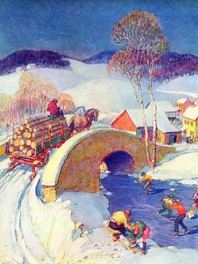 """Winter in the Village,""January 1, 1944 by Henry Soulen"