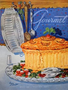 Gourmet Cover - April 1950 by Henry Stahlhut