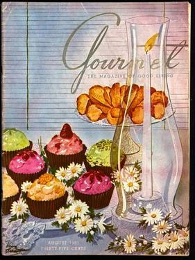 Gourmet Cover - August 1951 by Henry Stahlhut