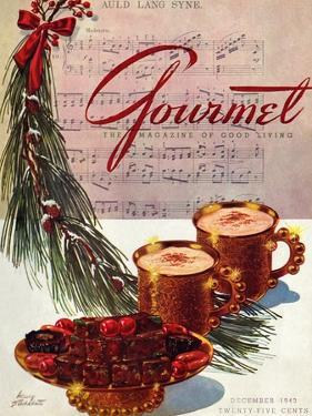 Gourmet Cover - December 1943 by Henry Stahlhut