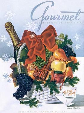 Gourmet Cover - December 1944 by Henry Stahlhut