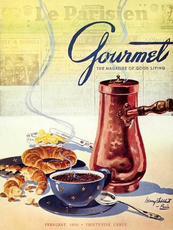 Gourmet Cover - February 1950