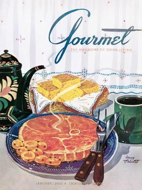 Gourmet Cover - January 1950 by Henry Stahlhut