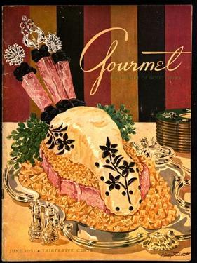 Gourmet Cover - June 1951 by Henry Stahlhut