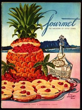Gourmet Cover - March 1950 by Henry Stahlhut
