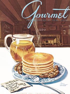 Gourmet Cover - November 1944 by Henry Stahlhut