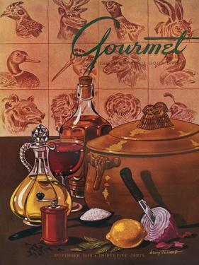 Gourmet Cover - November 1948 by Henry Stahlhut