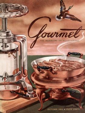 Gourmet Cover - October 1952 by Henry Stahlhut