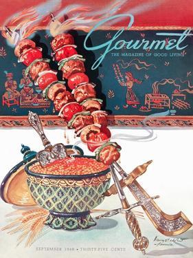 Gourmet Cover - September 1948 by Henry Stahlhut