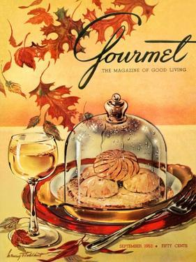 Gourmet Cover - September 1953 by Henry Stahlhut