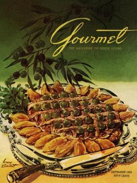 Gourmet Cover - September 1954 by Henry Stahlhut