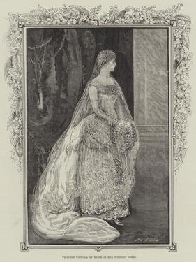 Princess Victoria of Hesse in Her Wedding Dress by Henry Stephen Ludlow
