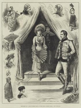 Sketches at a Fancy-Dress Ball at the Royal Albert Hall by Henry Stephen Ludlow