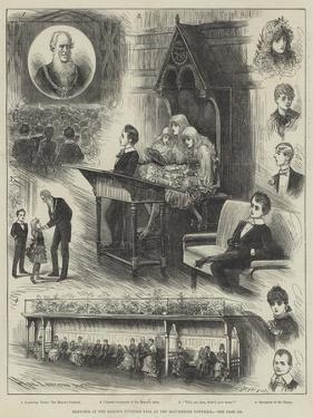 Sketches at the Mayor's Juvenile Ball at the Manchester Townhall by Henry Stephen Ludlow