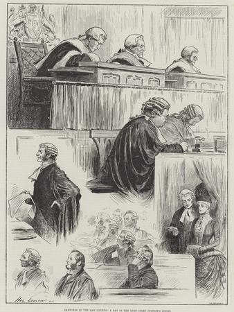 Sketches in the Law Courts, a Day in the Lord Chief Justice's Court