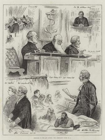 Sketches in the Law Courts, the Admiralty Court, No 2