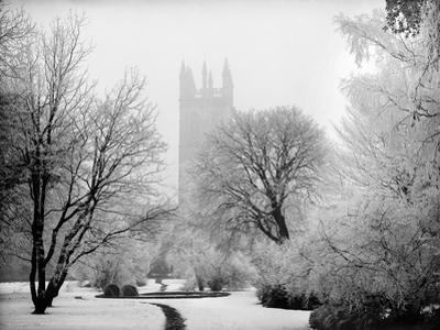 Magdalen College, Oxford, Oxfordshire in the Snow