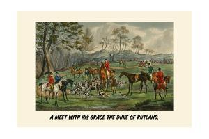 A Meet with His Grace the Duke of Rutland by Henry Thomas Alken