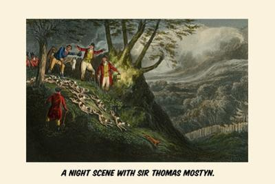 A Night Scene with Sir Thomas Mostyn by Henry Thomas Alken