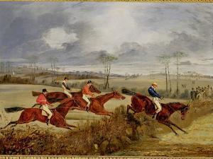 A Steeplechase, Near the Finish by Henry Thomas Alken