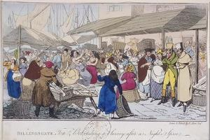 Billingsgate: Tom and Bob Taking a Survey after a Nights' Spree, London, 1820 by Henry Thomas Alken