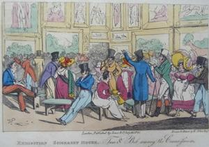 Exhibition, Somerset House, 1821 by Henry Thomas Alken