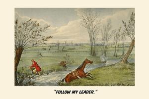 Follow My Leader by Henry Thomas Alken