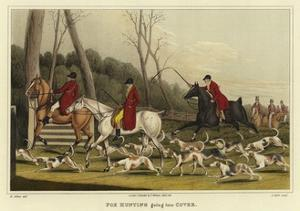 Fox Hunting Going into Cover by Henry Thomas Alken