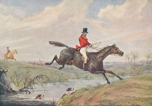 Fox Hunting: Leaping the Brook, 1906 by Henry Thomas Alken
