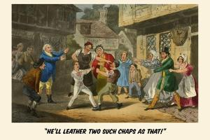 He'Ll Leather Two Such Chaps as That by Henry Thomas Alken