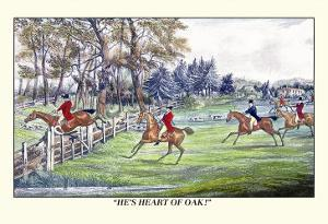Horseman Jumps the Fence to Follow the Hounds by Henry Thomas Alken