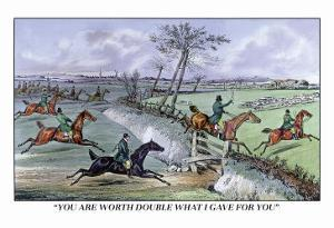 Hunters Clear the Ditch by Henry Thomas Alken