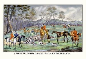 Meet with His Grace the Duke of Rutiana by Henry Thomas Alken