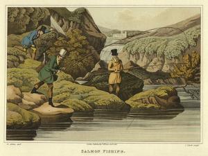 Salmon Fishing by Henry Thomas Alken